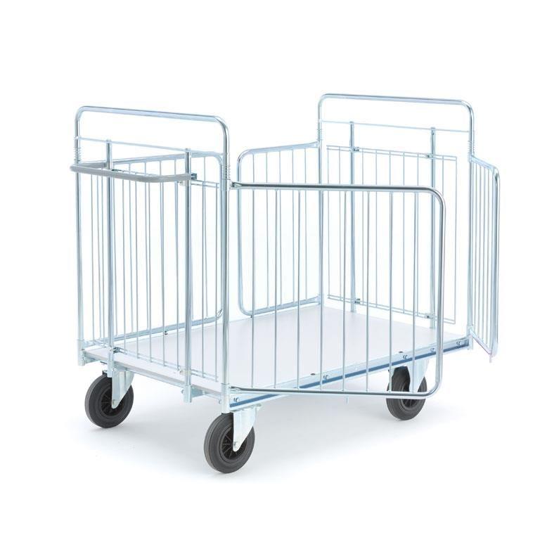 Paketvagn med sidogrindar