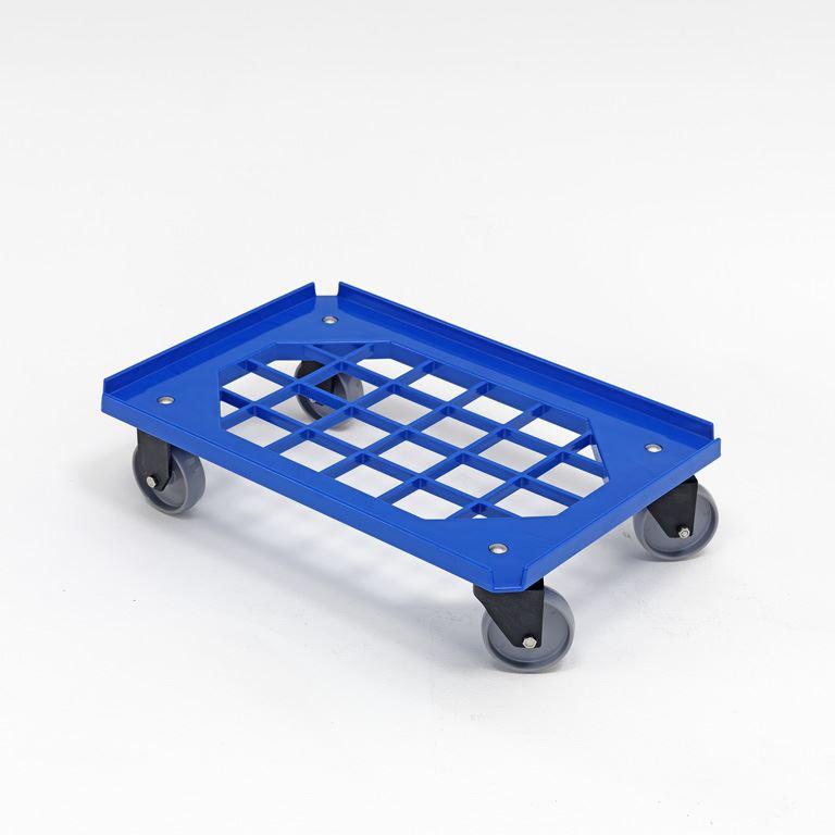 Plastikowa platforma transportowa z niepełnym dnem