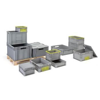 Plastic Euro storage boxes
