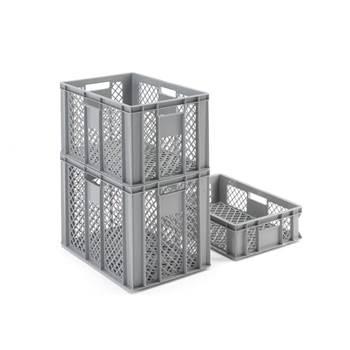 Perforerad plastback, grå