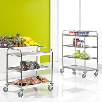 Stainless shelf trolley: 100kg