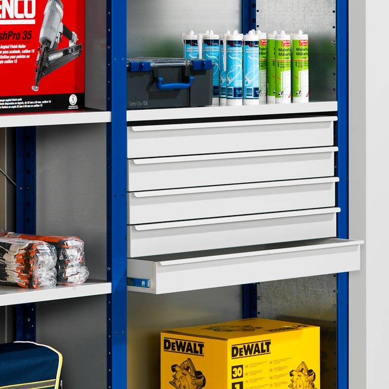 """Mix"" shelving: pull-out drawer"