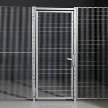 Security fencing: mesh door panels