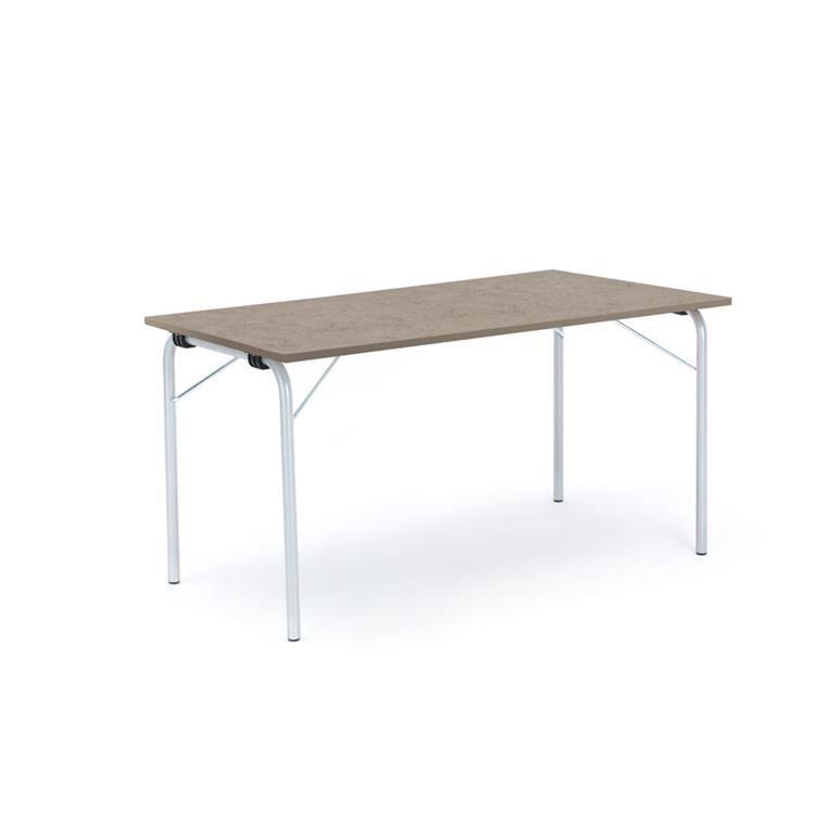 Stół składany Nicke linoleum/srebrna rama