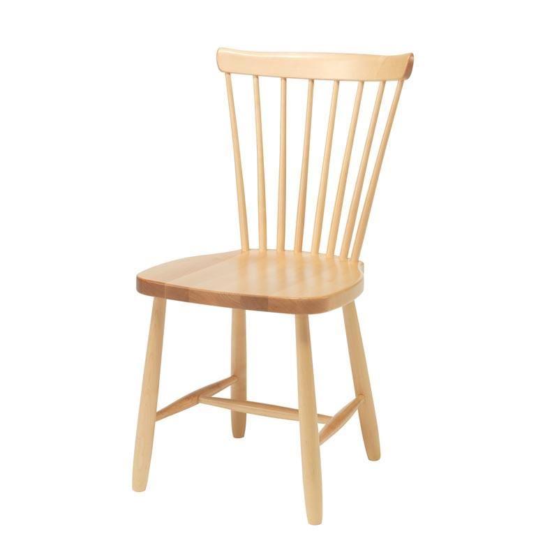Klasyczne krzesło z litego drewna brzozowego ANNA