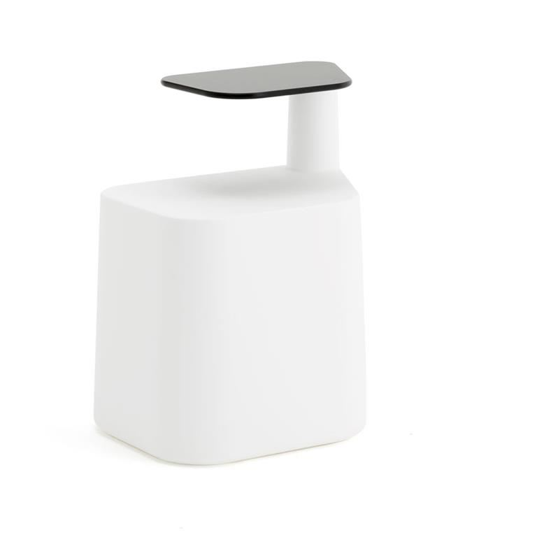 """""""Sat"""" stool with sidetable"""