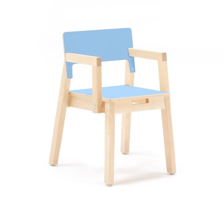 """Love"" Child's chair with armrests, H340/380 mm"