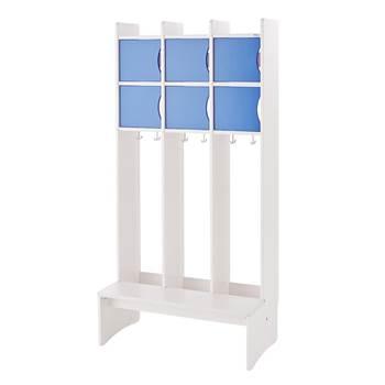 Szafka ubraniowa TOBBE z 2 półkami - Kolor drzwi: Niebieski