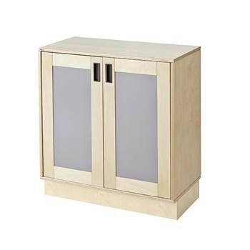 Base cabinet with coloured doors