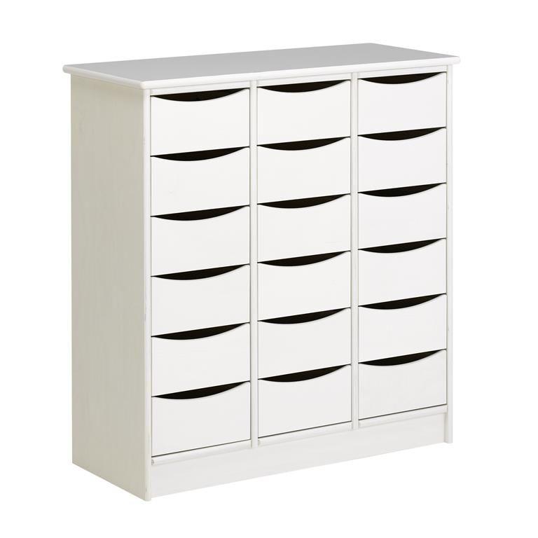 Storage Cabinet, 18 drawers