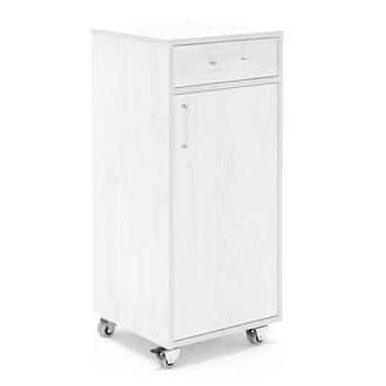 Mobile lectern with drawer and large cupboard