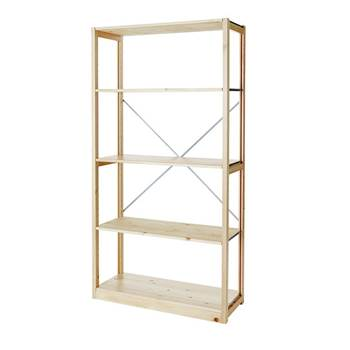 Tall bookshelf, open ends