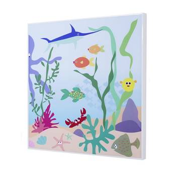 Sound absorbing wall art, underwater theme