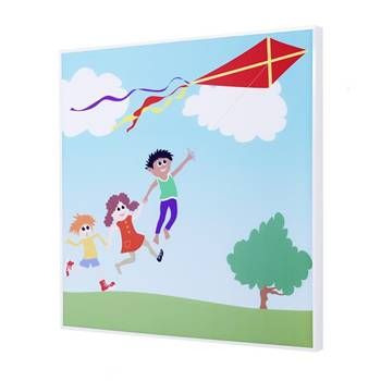 Sound absorbing wall art, flying kite