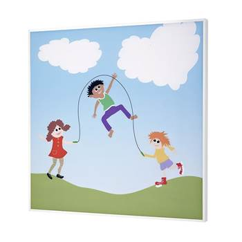 Sound absorbing wall art, play theme