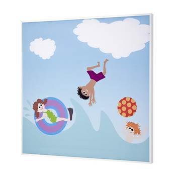 Sound absorbing wall art, swimming theme