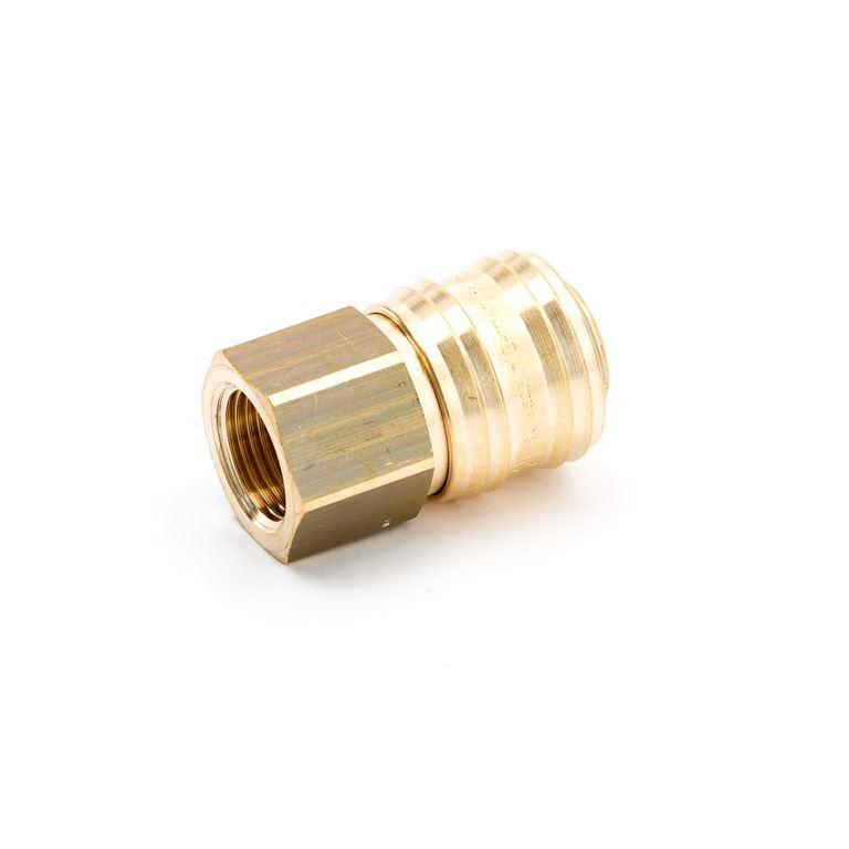 Quick coupling in brass: interior thread