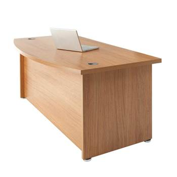 """Regent"" bow fronted executive desk"