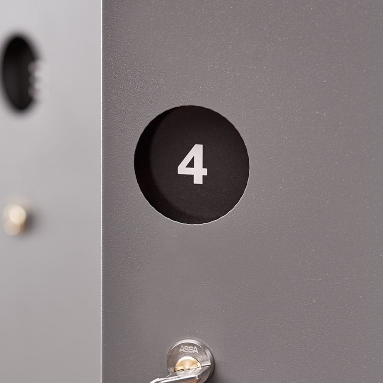 Number tiles for 'Create' lockers