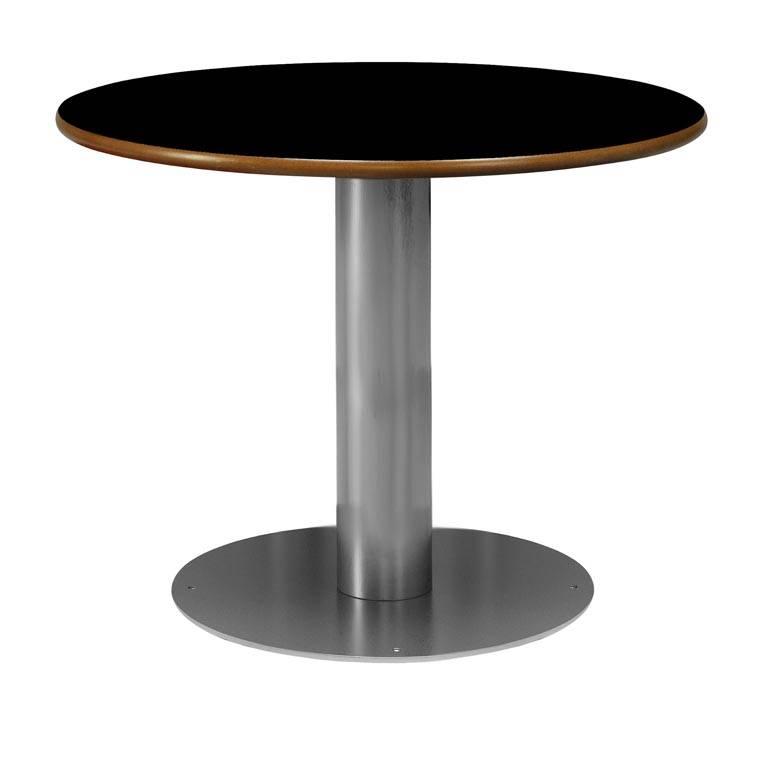 """Nimbus"" fixed round canteen tables"