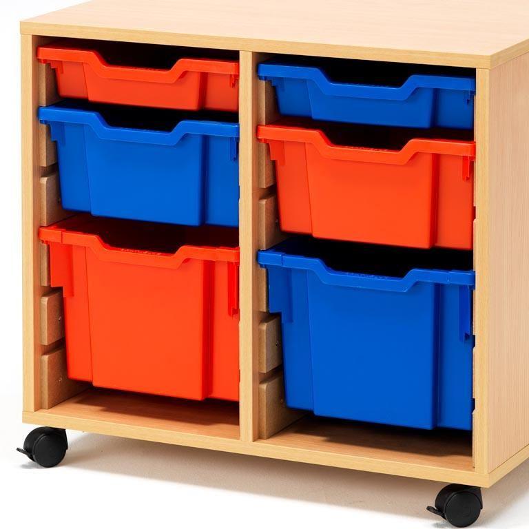 "Plastic bins for ""Ida"" storage unit, large"