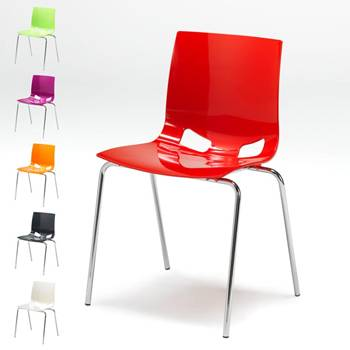 Colourful plastic chair
