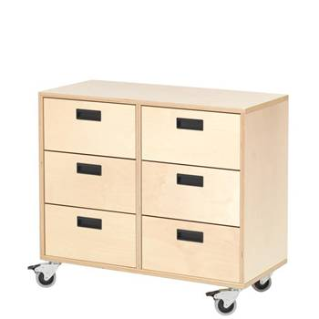 Drawer unit, 6 drawers
