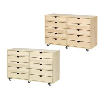 Combination student storage 2:4, beech