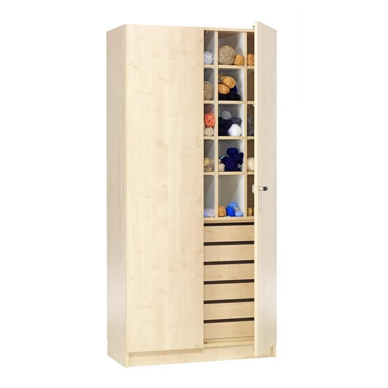 Textile & Craft Cabinet with Wool Compartments