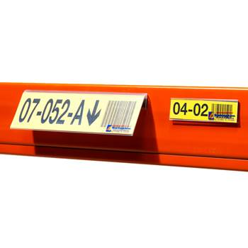 Etiketthållare med magnet