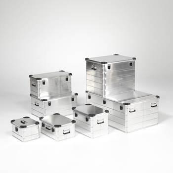 Aluminium transport boxes
