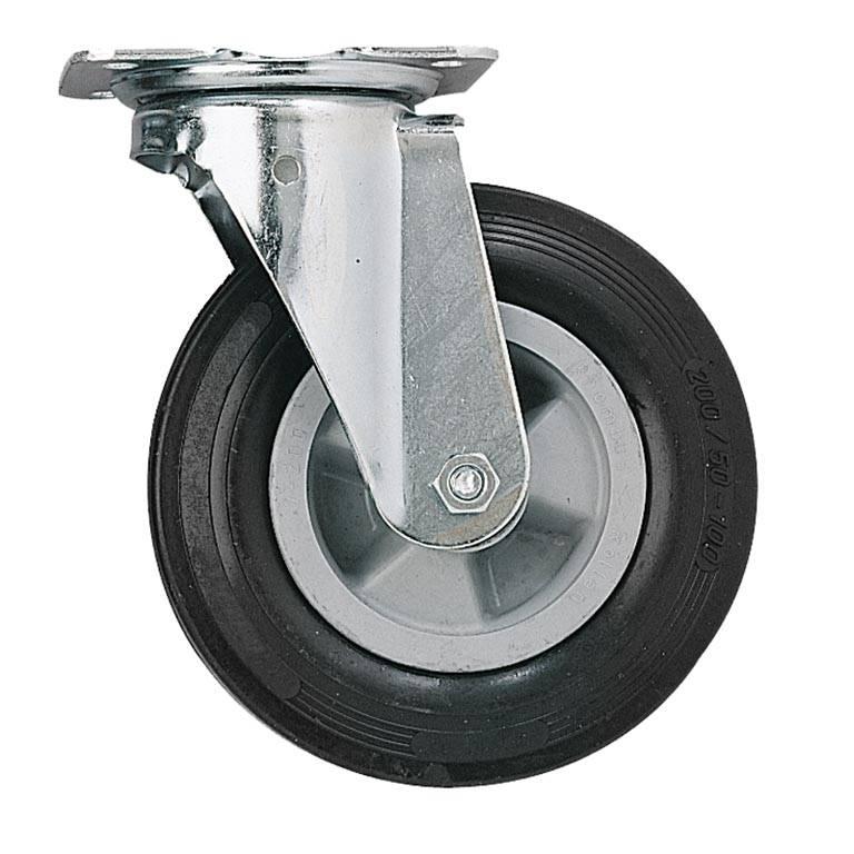 Castor wheels: solid rubber
